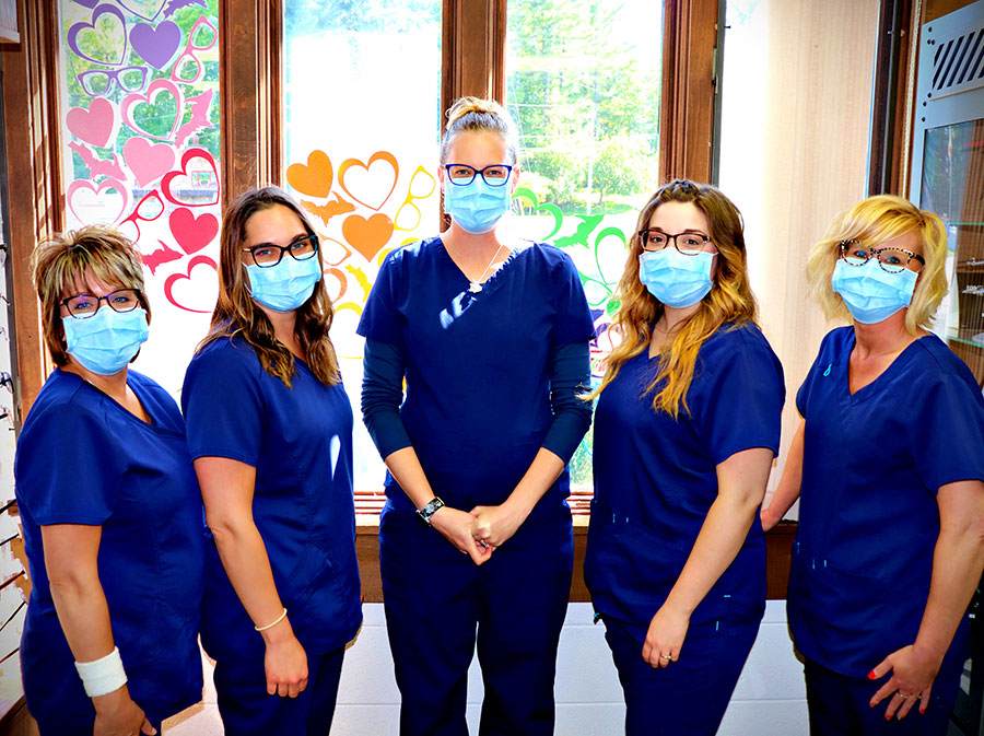 The staff at Northern Eye Care Associates